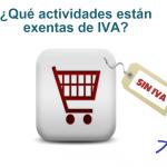¿Sabes que actividades están exentas de IVA?