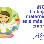 ¡NO! La baja por maternidad no sale más cara a la empresa